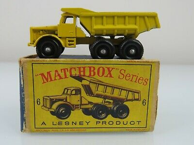 Lesney Matchbox Vntg 1964 #6 Euclid Quarry Dump Truck Regular wheels w/Orig Box