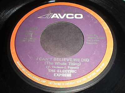 The Electric Express: I Can't Believe We Did (The Whole Thing) / Bee Pee 45-Funk