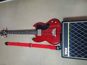 COMBO- Epiphone EB-0 Cherry Red/Vox Amplifier Pathfinder 10 Wahroonga Ku-ring-gai Area Preview