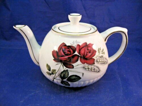 ANTIQUE IRONSTONE TEA POT BY ELLGREVE, DIV OF WOOD & SONS - ENGLAND