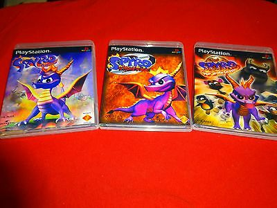 Empty Replacement Cases    Spyro The Dragon Trilogy Sony Playstation 1 Psone Ps1