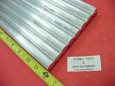 8 Pieces 34 Aluminum 6061 Round Rod 12 Long T6511 .75 Solid Lathe Bar Stock
