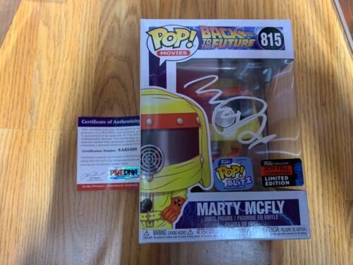 "Funko Pop Signed Michael J. Fox ""Marty Mcfly"" Back To The Future PSA-IP NYCC B"