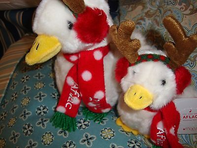Talking Aflac Duck Holiday Duck 2012 Large and Child Duck Small Pair