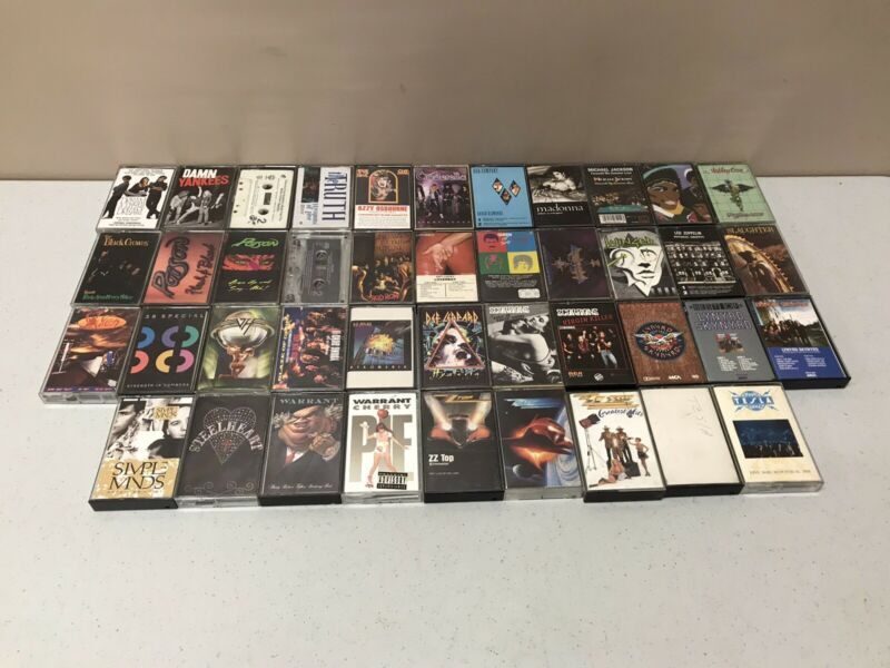 (42) Cassette Tapes Lot Classic Rock Led Zeppelin ZZ Top Def Leppard Queen