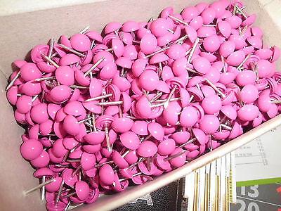 50 Ziernägel/Polsternägel violett/ pink , 9 mm dm-hochgewölbt, Kunststoff
