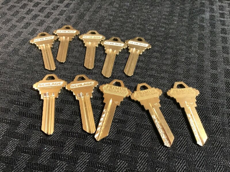 Schlage 35157468EP E Primus Key blanks 6 Pin 10 Qty
