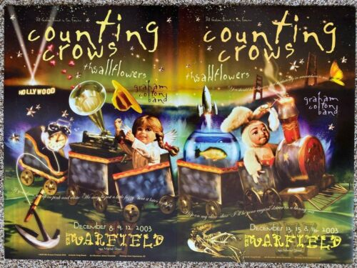 Counting Crows The Wallflowers Rare Poster Set 2003 San Francisco 6 nights