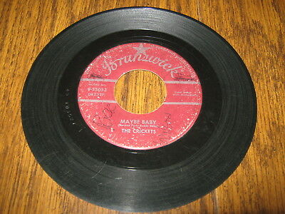 45 RPM - BUDDY HOLLY AND THE CRICKETS - MAYBE BABY for sale  Shipping to Canada