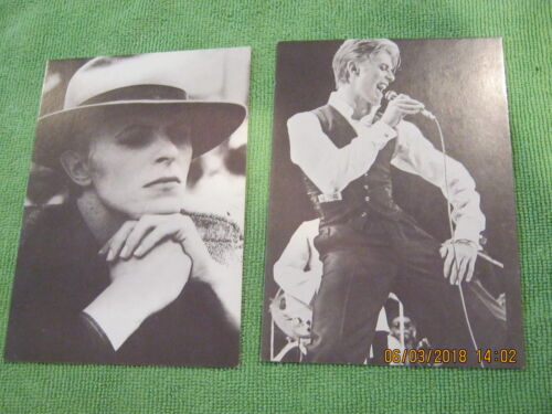 """DAVID BOWIE """"Set of two Postcards"""" from 1976 era (black & white) RARE! MINT!"""