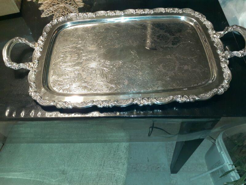 Oneida Silverplate Handled Butler Tray 24X13