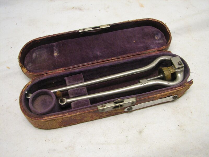Antique Ashcroft Surveying Planimeter Drafting Tool w/Case Fine Quality
