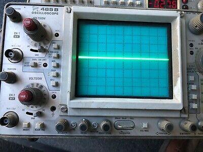 Tektronix 465b 100mhz 2-channel Oscilloscope Wdm44 For Parts