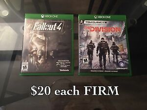 Fallout 4 and the division Xbox one