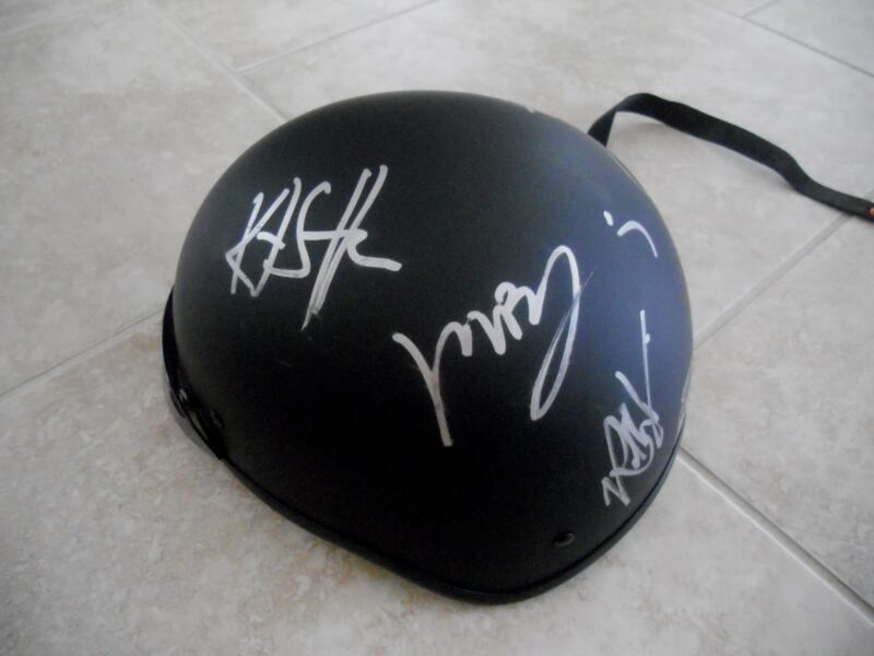 Sons Of Anarchy Signed Motorcycle Helmet Boone Jr Sutter Trejo +5 PSA Guaranteed