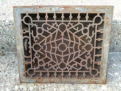Vintage Heat Wall Floor Vent Duct Grate Cover Ornate Decorative Metal 10 x 12