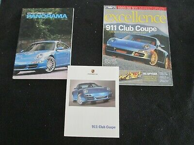 2006 Porsche 911 Club Coupe Brochure & Magazine Pack 997 Carrera S Sales Catalog