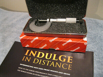 Starrett 256rl-1 Flange Micrometer Wpadded Case No Engravings Machinist Tools