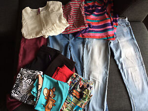 Bulk lot Girls clothes size 10 Jeans Tops Tights Leggings Roxy Adelaide CBD Adelaide City Preview