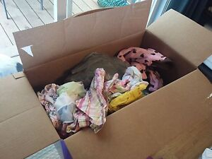 3 Large Diaper Boxes of baby Girl Clothes 6-18 mos