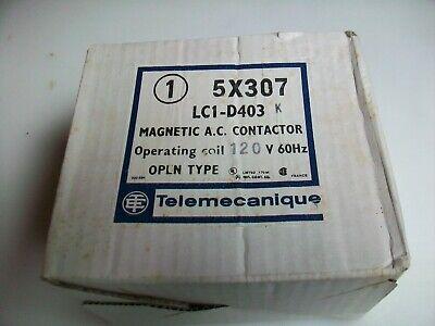 Nos Telemecanique Magnetic A.c. Contactor 5x307 Lc1-d403h7 120 V Ac Coil