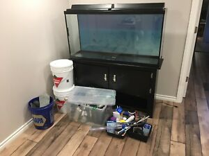 65 gallon fish tank and stand