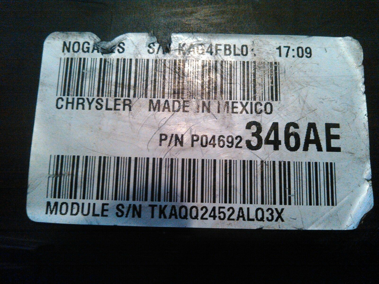 Buy Used Computers And Cruise Control Parts From Top Rated Salvage Dodge Caliber 2007 Fuse Box For Sale 24l Integrated Power Module Relay P04692207af