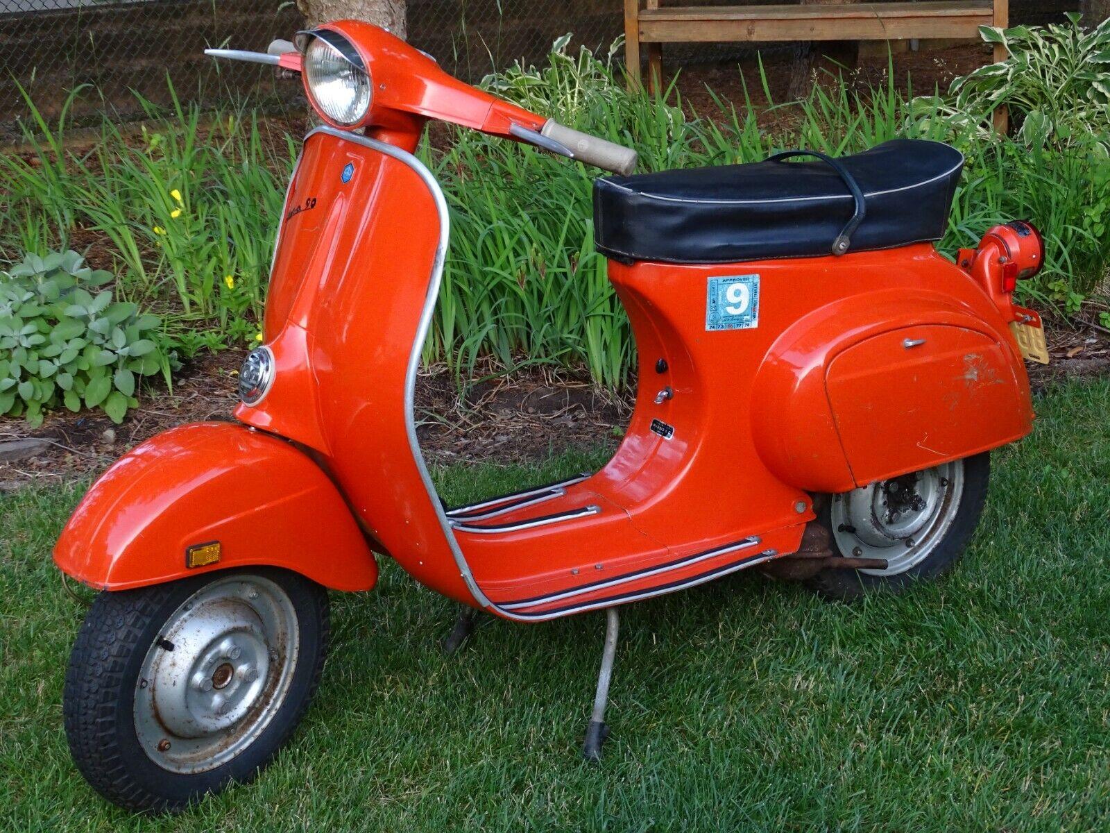 Garage Find:1971 Vespa 90 Scooter, Stored 44 Years, Running,1407 Original Miles!