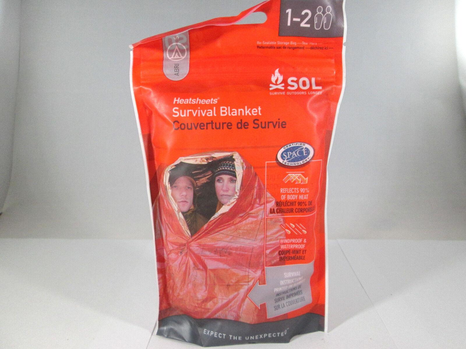 2 Person Survival Emergency Blanket Heat Sheet Survive Outdo