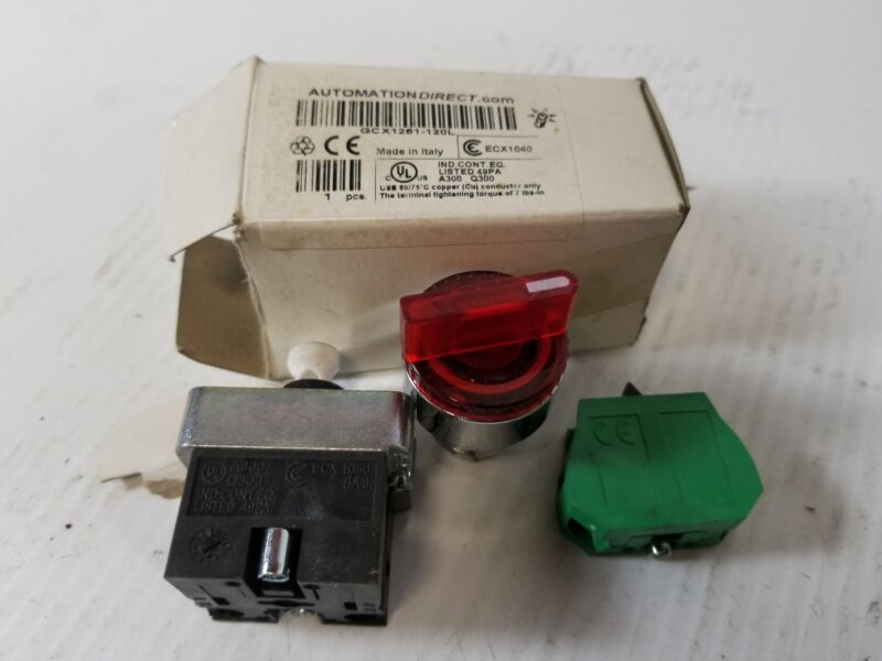 Automation Direct GCX1251-120L Illuminated Selector Switch - Red