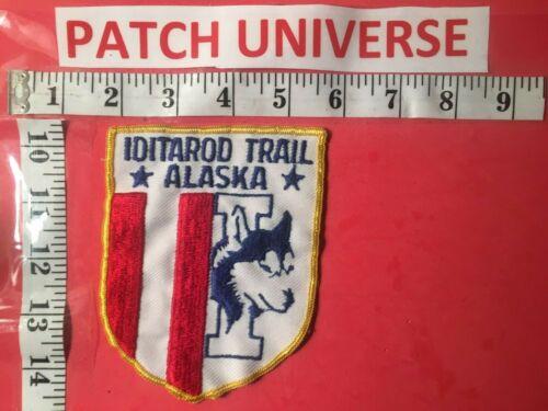 VINTAGE IDITAROD TRAIL  ALASKA SHOULDER PATCH  R066