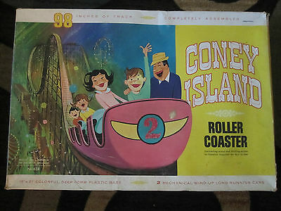 CONEY ISLAND ROLLER COASTER BY OHIO ART,IN ORIGINAL BOX WITH 2 CARS on Rummage