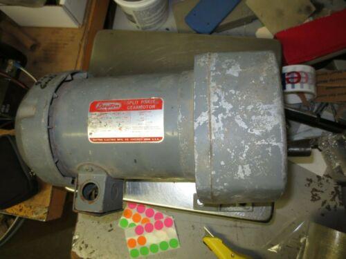 "Dayton inline gearmotor 6K506, 135rpm, 12.9:1, 1/2hp, 115v, TEFC, 1 Phase 3/4"" S"