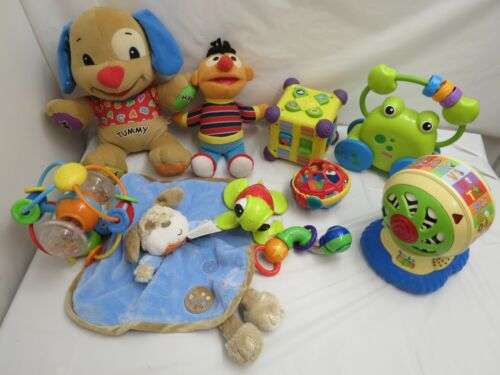 LOT OF BABY INFANT TOYS LEARNING MUSICAL GREAT NAMES ERNIE PLUSH FISHER PRICE