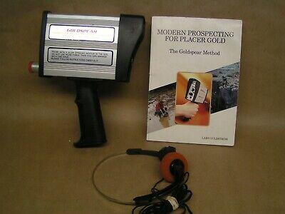 Original Goldspear Gold Detector With Book On Methods Earphones. Sweden