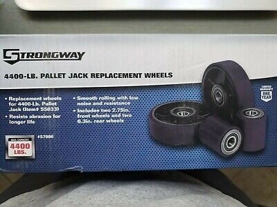 4400lb Pallet Jack Replacement Wheels - Front Rear - New