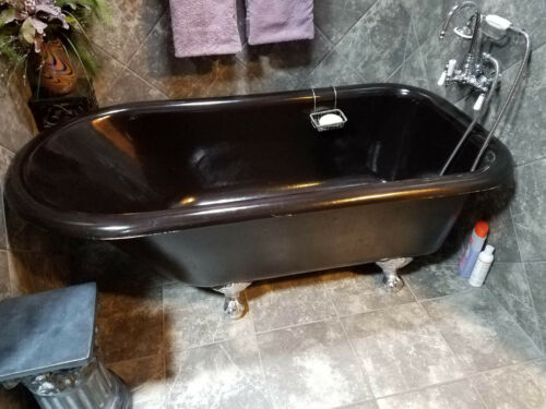 Vintage Cast Iron Claw Foot Bath Tub