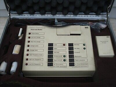 Bmi Gs-3 Power Line Monitor Wcables Case Paper Temperature Probe Gs-3tp-b Manua