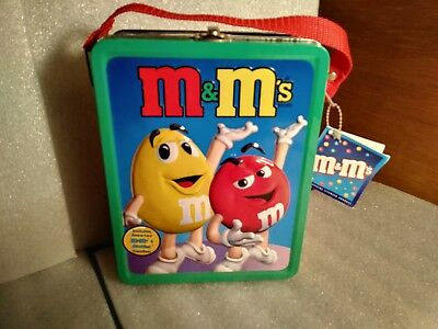 M&M's Lunchbox 2001 with Original Tag, 3-D figures on front and back for sale  Dayton
