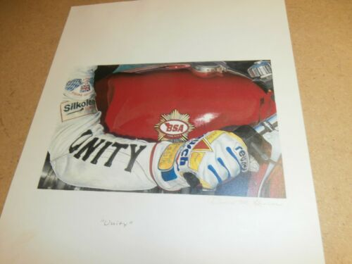 6 BSA Norton AJS Vincent Ariel Motorcycle Prints David Gavin