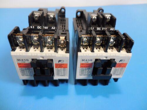 Fuji Electric SC-4-1/G 24VDC Magnetic Contactors Lot of 2