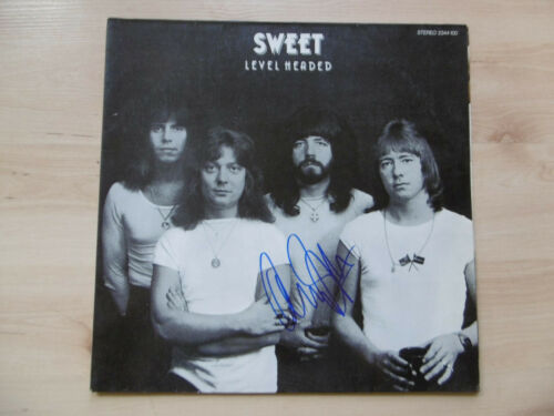 """Andy Scott Autogramm signed LP-Cover """"The Sweet - Level Headed"""" Vinyl"""