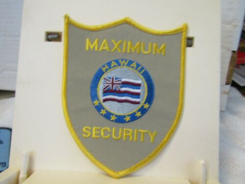 Hawaii Maximum Security new unused  5x4 inches patch