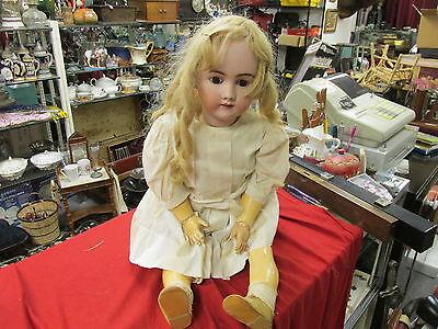 SIMON & HALBIG HEINRICH HANDWERCK 7 W Antique Bisque Doll Germany Sleepy HUGE