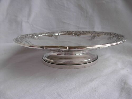 ANTIQUE FRENCH STERLING SILVER PEDESTAL DISH,HENIN,LATE 19th CENTURY.