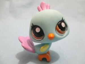 Littlest Pet Shop LPS #1719 Turquoise Purple Peacock W Brown Eyes 100% Authentic