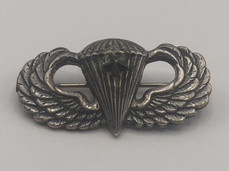 WWII US Army Paratrooper Sterling Pin-Back Jump Wings