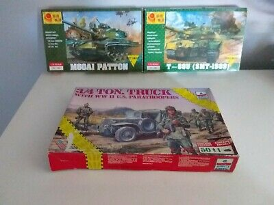 Used, M60A1 Patton T-80U SMT-1989 3/4 Ton Truck model bundle 1:72 for sale  Shipping to Canada