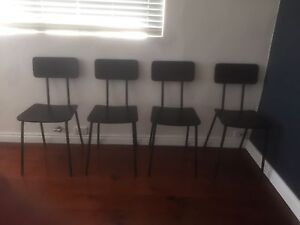 Black chairs Rozelle Leichhardt Area Preview