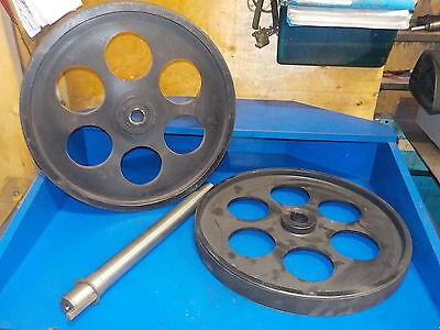 Bandsaw Wheels Bandwheels 20 Pair W Shaft Brand New Real Bandweels For Sawmill